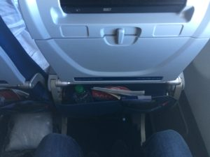 mere benplads på fly
